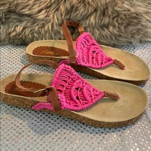REBELS WOMENS SANDALS PINK SIZE 9